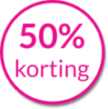 50% korting klein