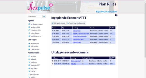 Flexpulse overzicht examens