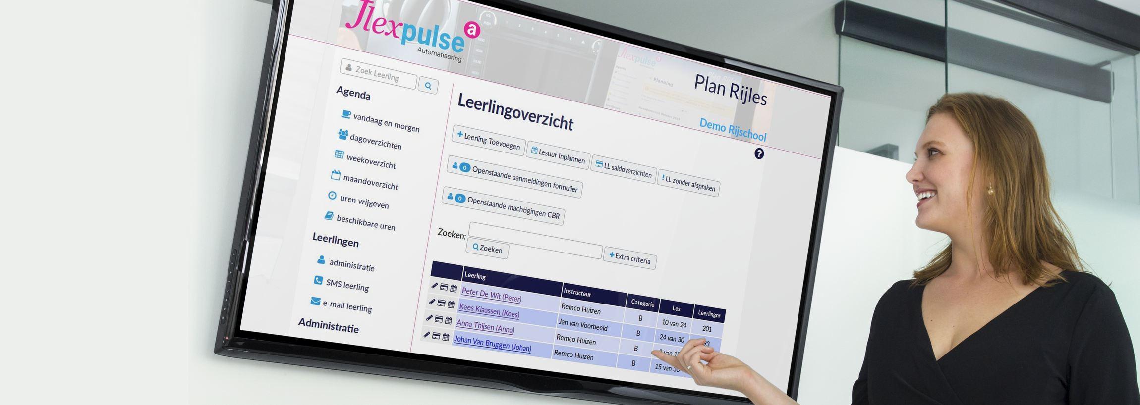 presentatie Flexpulse rijschoolsoftware