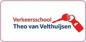 Logo Verkeersschool Theo van Velthuijsen kader