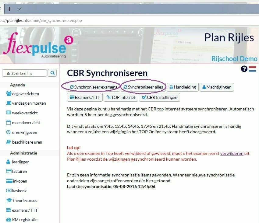 Automatisch bijwerken met CBR Top koppeling