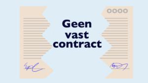 Geen vast contract