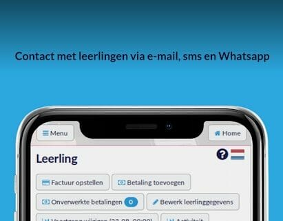 Contact met leerlingen via e-mail,smsen WhatsApp