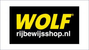 Wolf rijbewijsshop Frame website logo